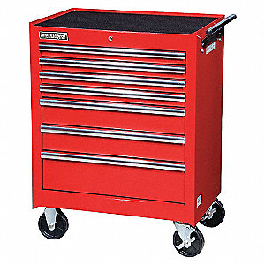 27IN 7 DRAWER CABINET RED