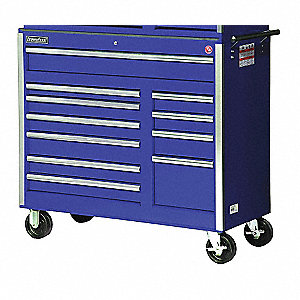 42IN 11 DRAWER CABINET BLUE