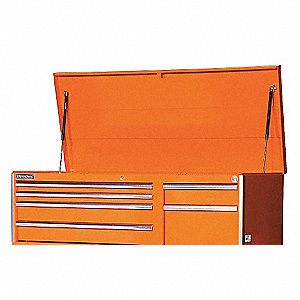 56IN 6 DRAWER DEEP CHEST ORANGE