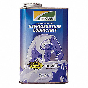 Refrigeration Lubricant, POE, 1 qt