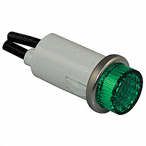 Raised Indicator Light,Green,120V