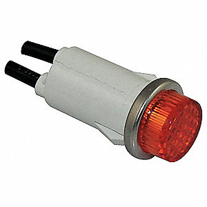 Raised Indicator Light,Amber,24V