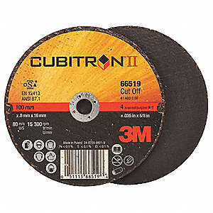 "4"" Abrasive Cut-Off Wheel, 0.035"" Thickness, 5/8"" Arbor Hole"