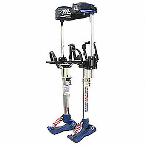 Drywall Stilts,18 to 30 In,225 lb,PR