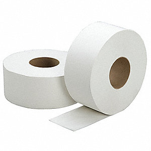 Toilet Paper,Jumbo,2-Ply,1000 Ft,PK12