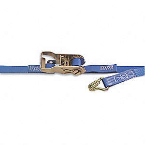 "Tie Down Strap, 12 ft.L x 1""W, 835 lb. Load Limit, Adjustment: Ratchet"