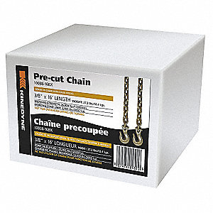 Transport Chain,6600 Lb,16 Ft x 3/8 In.