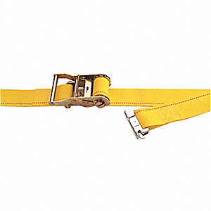 "Tie Down Strap, 12 ft.L x 2""W, 1000 lb. Load Limit, Adjustment: Ratchet"