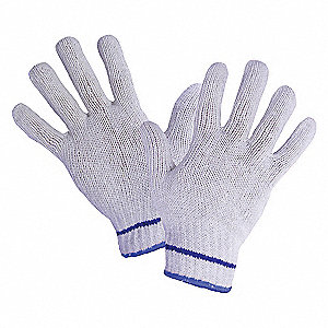 GLOVES BLULINE POLY/COT XL