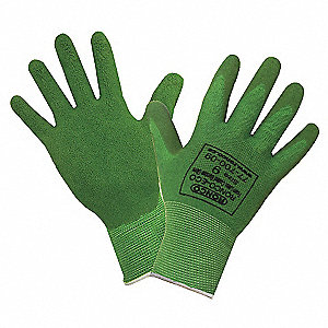 GLOVES ECO BAMBOO FOAM CTD GRN LGE
