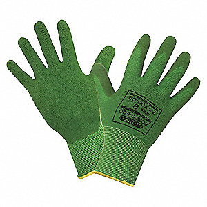 GLOVES ECO BAMBOO FOAM CTD GRN MED