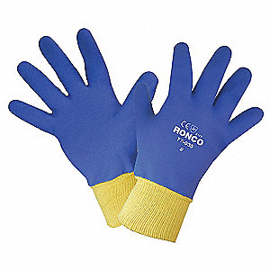 GLOVES PVC FOAM FULL CTD KW LGE