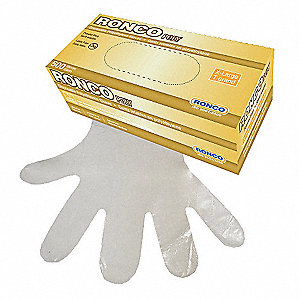 GLOVES POLY CLR DISPOSABLE XLG
