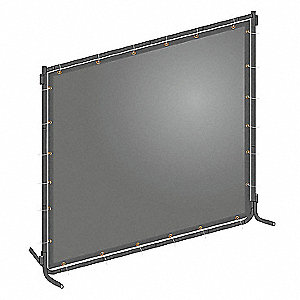 "Transparent PVC Welding Screen, 6 ft. H x 6 ft.W x 0.014"" Thick, Gray"