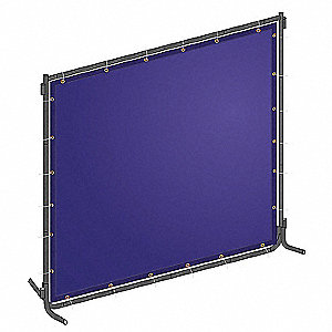 Welding Screen,8 ft. W,6 ft.,Blue