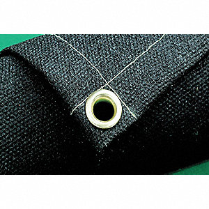"Acrylic Coated Fiberglass Welding Blanket, 10 ft. H x 10 ft.W x 0.051"" Thick, Black"