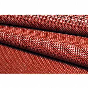"Silicone Coated Fiberglass Welding Blanket Roll, 3 ft. H x 150 ft.W x 0.040"" Thick, Red"