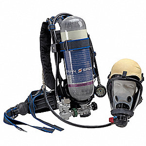 Inds SCBA,Carbon,Full Facepc,30 min.