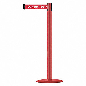 Barrier Post w/ Belt,Powder Coated Metal