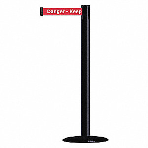 Barrier Post with Belt,38 In. H,13 ft. L