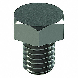 "Grade 5 Hex Head Cap Screw 5/8""-11, 1-1/4"" Fastener Length, Zinc Plated Fastener Finish, Steel, PK10"