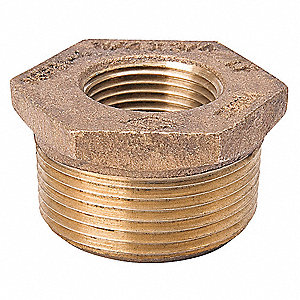 "Brass Bushing, FNPT x MNPT, 2"" x 3/4"" Pipe Size (Fittings)"