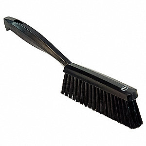 "14""L Polyester Short Handle Bench Brush, Black"