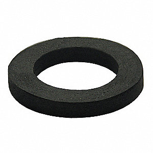 "Sponge Rubber Wax-Free Seal, Black, For Use With 3"" OD Urinals"