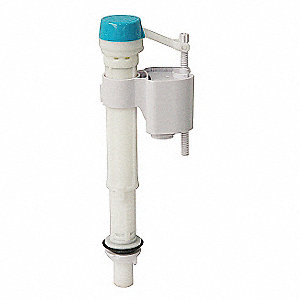 Polyoxymethylene Anti-Siphon Fill Valve, White, For Use With Most Toilet Tanks