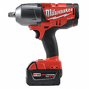 "1/2"" Friction Ring Cordless Impact Wrench Kit, 18.0 Voltage, 0 to 100/0 to 700 ft.-lb. Max. Torque,"