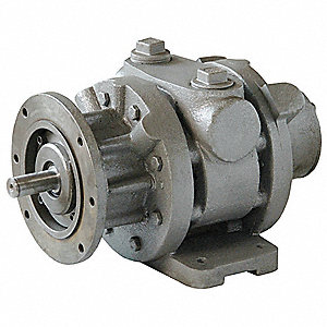 "9.5 Foot and Flange Mounted Air Motor with 7/8"" Shaft Dia. and 1-1/4"" NPT Port Size"
