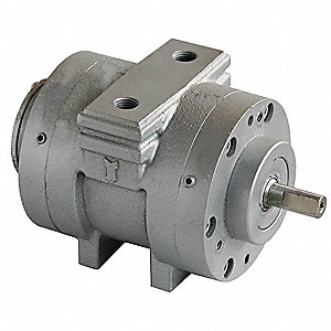 "0.82 Hub and Foot Mounted Air Motor with 1/2"" Shaft Dia. and 1/4"" NPT Port Size"