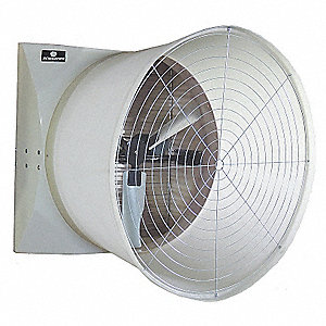 208-230/460V Cone, Belt Drive Agricultural Exhaust Fan, 1-1/2HP