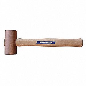 Mallet,Hickory/Brass,60 oz.,13 in