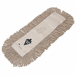 "Synthetic, Cotton Dust Mop, Length 18"", Width 5"", 1 EA"