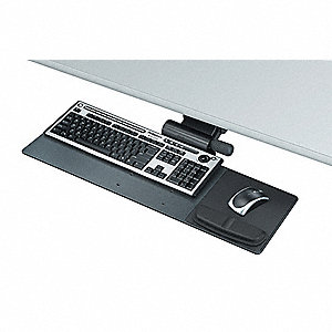 Keyboard Tray,Blk,Glide Track 17-3/4 In.