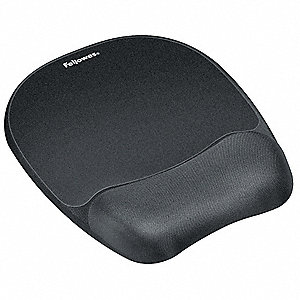 MOUSEPAD W/WRIST SUPPORT,BLACK