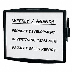 DRY ERASE BOARD,ABS PLASTIC,BLACK