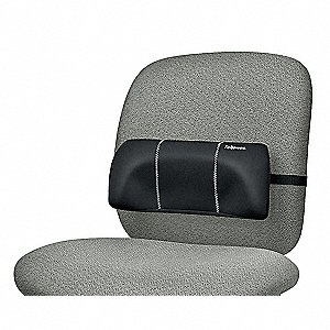 Fabric/Foam/Nylon Lumbar Back Support, Black
