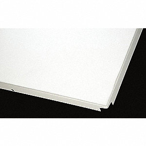 "Unperforated Ceiling Tile Exit Panel, 3/64"" x 24"" x 24"", White, 8PK"
