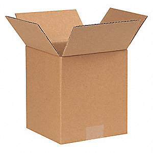 "Shipping Carton, Kraft, Inside Width 6"", Inside Length 6"", Inside Depth 7"", 65 lb., 1 EA"