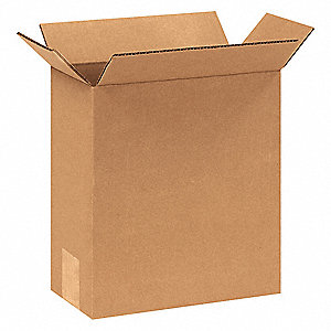 "Shipping Carton, Kraft, Inside Width 4"", Inside Length 6"", Inside Depth 8"", 65 lb., 25 PK"