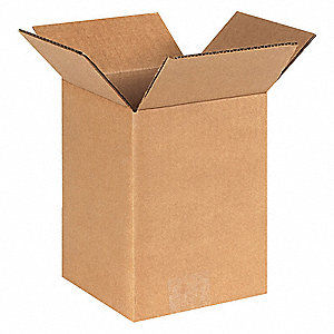 "Shipping Carton,Kraft,8"" L,6"" W,8"" D"