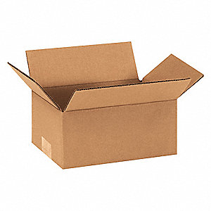 "Shipping Carton, Kraft, Inside Width 5"", Inside Length 9"", Inside Depth 4"", 65 lb., 1 EA"