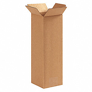 "Shipping Carton,Kraft,5"" L,5"" W,12"" D"