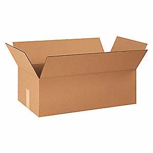 "Shipping Carton, Kraft, Inside Width 12-1/2"", Inside Length 24"", Inside Depth 8"", 65 lb., 1 EA"