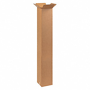 "Shipping Carton, Kraft, Inside Width 10"", Inside Length 10"", Inside Depth 60"", 65 lb., 1 EA"