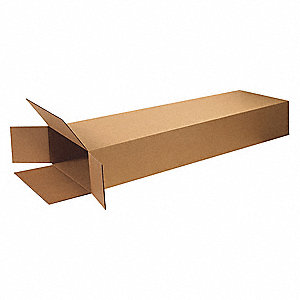 "Shipping Carton, Kraft, Inside Width 4"", Inside Length 14"", Inside Depth 68"", 95 lb., 1 EA"