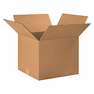 "Shipping Carton, Kraft, Inside Width 20"", Inside Length 20"", Inside Depth 16"", 100 lb., 1 EA"