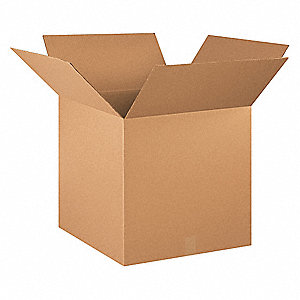 "Shipping Carton, Kraft, Inside Width 20"", Inside Length 20"", Inside Depth 20"", 65 lb., 120 PK"